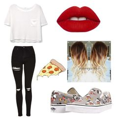 """Untitled #17"" by adagalo on Polyvore featuring Vans, Topshop, MANGO, Lime Crime and Tattly"