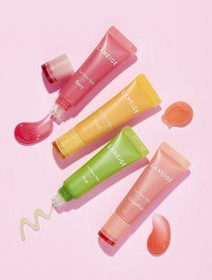 LANEIGE Lip Glowy Balm - Care - Skin care , beauty ideas and skin care tips Best Lip Balm, Best Lip Gloss, Pink Lip Gloss, Aesthetic Makeup, Pink Aesthetic, Skin Makeup, The Balm Makeup, Beauty Skin, Beauty Care