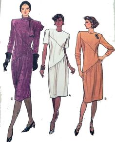 Vogue 9404  Dress pattern Bust 31.5 by retroactivefuture on Etsy, $4.00