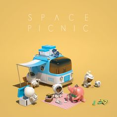 Art Toy Project 'Space Picnic' copyrights Reserved by 'PicnicArt'