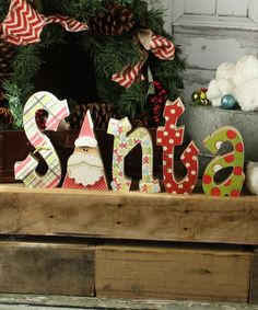 Santa Wood Letters | Christmas crafts | Super Saturday Christmas ideas