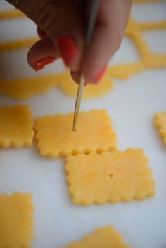 homemade cheese nips.