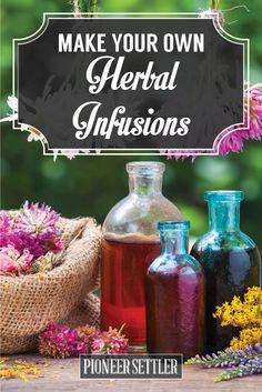 How To Make Herbal Infusions   Herbal Remedies by Pioneer Settler at http://pioneersettler.com/diy-herbal-infusions/
