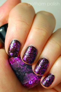 Purple Haze - Glitter Nail Lacquer / Polish - Mini. $5.00, via Etsy.