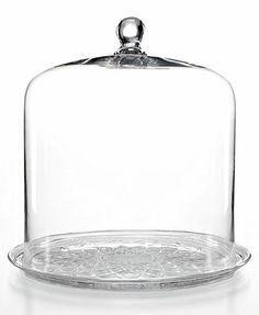 Martha Stewart Bell Jar Dome with Plate, $90 on sale at Macy's. Would make a nice cheese dome.