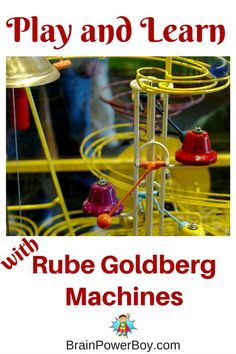Great ideas for Rube Goldberg projects and games.