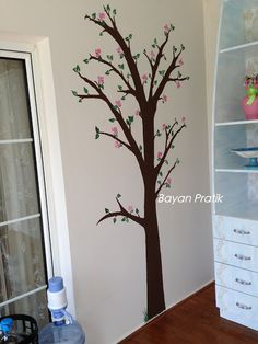 duvar boyamak, duvar sticker, duvar süsü, duvara ağaç deseni, duvara resim çizmek, Wall painting