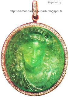 Carved Emerald Cameo Pendant