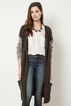 Second Female Fuzzy Greyscale Cardigan #anthropologie