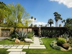 Love these pavers for front yard, Mid-Mod in Palm Springs