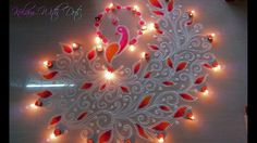 Beautiful Peacock Rangoli Designs With Colours For Festivals - For Compe...