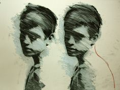 "Saatchi Online Artist Mark Horst; Drawing, ""glimpses no. 1"" #art"