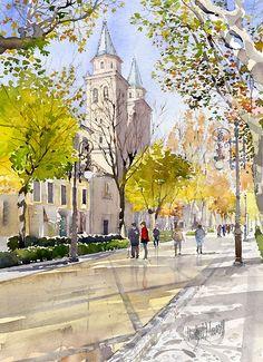 Carrera del Genil y Basílica de Nuestra Señora de las Angustias