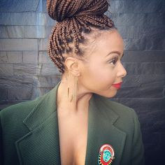 Chrisette Michele brown box braids
