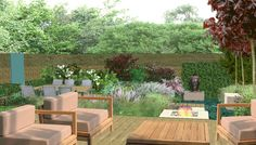 Family garden in Putney South West London