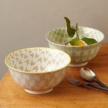 Modernist Serving Bowls - Pastel