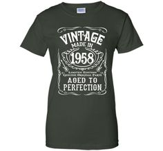 Vintage Made In 1958 Birthday Gift Idea T Shirt