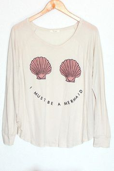 I Must Be a Mermaid Knit Tee