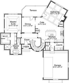 Home floor plans with turrets house design plans for House plans with turrets