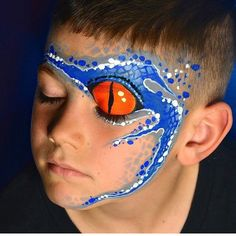 Face Painting Design Gallery – Top Of The World Dinosaur Face Painting, Monster Face Painting, Dragon Face Painting, Eye Face Painting, Face Painting For Boys, Face Art, Body Painting, Face Paintings, Easy Face Painting Designs