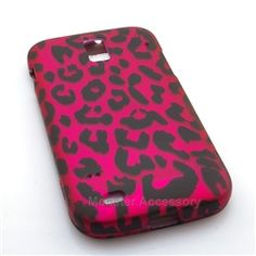 Click Image to Browse: $5.95 Pink Leopard Hard Case Snap On Cover For Samsung Galaxy S2 (Hercules T989)
