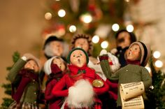 Christmas Carolers - reminds me of our neighbors' house at Christmas when we were kids.