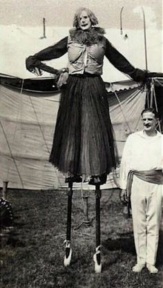 A circus clown from the 1920s.
