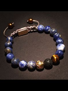 Great new styles  Sodalite with Tigereye, Lavastone and Gold...  www.bhayra-jewelry.com