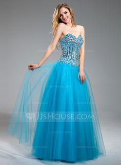 Prom Dresses - $176.99 - A-Line/Princess Sweetheart Floor-Length Satin Tulle Prom Dress With Beading (018018883) http://jjshouse.com/A-Line-Princess-Sweetheart-Floor-Length-Satin-Tulle-Prom-Dress-With-Beading-018018883-g18883?ver=xdegc7h0
