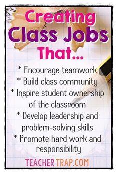 Classroom jobs in TEAMS!!