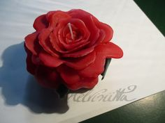 Red Rose Candle with Leaves by Helviriitta.deviantart.com on @DeviantArt