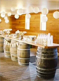 A sweet set-up for a wedding buffet.