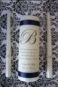 Monogram Unity Candle by ThoughtfullyDesigned on Etsy