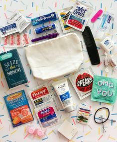 Your place to buy and sell all things handmade Purse/Car Emergency Kit What's In My Purse, One Bag, Bridal Emergency Kits, Emergency Kit For Car, Purse Essentials, College Backpack Essentials, What In My Bag, Make Up Remover, Handmade Purses
