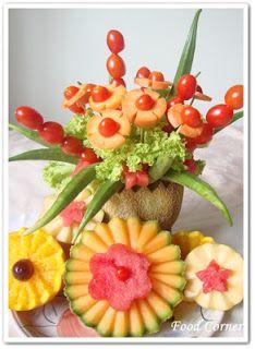 Fruit Carving Arrangement and Food Garnishe