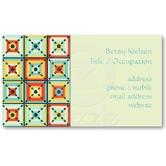 53 Best Quilters Business Cards Images Custom Business Cards