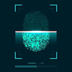 Abstract Fingerprint Scanner In Progress - Identity Verification Concept Stock Vector - Illustration of print, investigation: 153275227 Finger Scan, Science Fiction, Hd Wallpapers For Laptop, Marble Iphone Wallpaper, Black Widow Marvel, Finger Print Scanner, Aesthetic Gif, Overlays, Identity