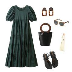 人ごみは避けたい夏休み。自然の中で過ごしたいと考えている方も多いかも知れませんね。涼しい避暑地でも、近場へのお出かけにも、気分を盛り上げるために着たいのは「マリハ」のドレス! 実はプレフォールのアイテムです。夏を楽しみつつ、しっかり秋も先取り♡ ドレスの深いグリーンをいかして、ブラック&ブラウンの小物でシックな夏のコーデを演出。 Today's Outfit, Polyvore, Outfits, Fashion, Moda, Suits, Fashion Styles, Fashion Illustrations, Kleding