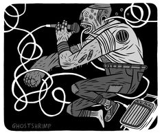 Ghostshrimp (Dan James) Ghost Shrimp, Magick, Dan, Comics, Awesome, Illustration, Artist, Inspiration, Fictional Characters