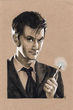Who Copic Marker Art Illustration by *AllisonSohn on deviantART Copic Marker Art, Copic Art, Copic Markers, Doctor Who Wallpaper, Ninth Doctor, John Smith, Geronimo, David Tennant, Dr Who