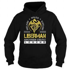 Awesome Tee LIBERMAN Legend - LIBERMAN Last Name, Surname T-Shirt T shirts