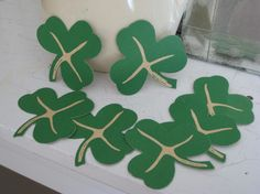 Items similar to Vintage Shamrock Clover Die Cuts Vintage St. Patrick's Day on Etsy Antique Stores, Classroom Decor, Art Projects, Upcycle, Vintage Outfits, Scrapbooking, Unique Jewelry, Handmade Gifts, Etsy