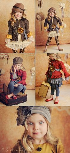 Cutest little girl, adorable outfits. This photographer is so creative!