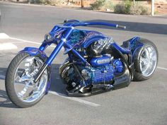 Custom Blue Chopper