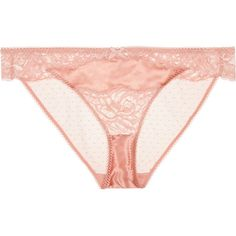 Stella McCartney Isabel Floating corded lace, stretch-silk and point... ($50) ❤ liked on Polyvore featuring intimates, panties, lingerie, undergarments, underwear, pink, lace lingerie, sheer lace lingerie, lacy lingerie and transparent lingerie
