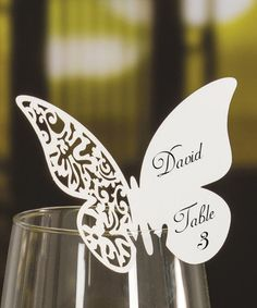 Another great find on #zulily! Die Cut Lace Butterfly Place Card - Set of 25 #zulilyfinds