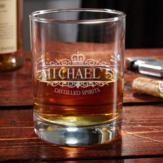 If you believe, like we do, that whiskey is the spirit of kings, then you deserve our Kensington personalized whiskey glass.