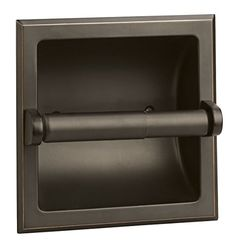Design House Millbridge Oil Rubbed Bronze Recessed Spring-Loaded Toilet Paper Holder at Lowe's. The Design House 539254 Millbridge Recessed Toilet PaPer Holder is a classic addition to any bathroom. This recessed toilet paPer holder is constructed of Recessed Toilet Paper Holder, Bathroom Toilet Paper Holders, Complete Bathroom Sets, What Is Fashion Designing, Thing 1, Bathroom Hardware, Bronze Bathroom, Bath Accessories