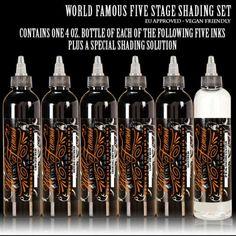World Famous Ink - 5 Stage Shading Set   #tattoo #tattooink #tattoosupply #tattoosuppliers #shoponline #worldfamousink #wheretobuy #wheretostart #best #quality #ink #getink #getinked #veganfriendly #vegan #tattooaddict
