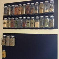 How To Make Your Own DIY Magnetic Spice Rack DO IT YOUR WAY, THIS IS SO EASY AND INEXPENSIVE AND TRULY YOU CAN MAKE IT ANY SIZE U WANT AND USE ANY CONTAINERS AS WELL, ALL YOUR CHOICE